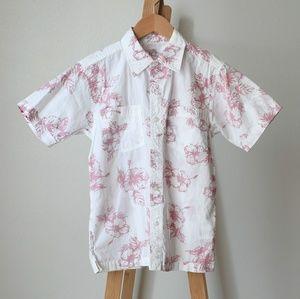 Bundle of 2 Kid's Button Down Hawaiian Shirts